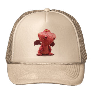 Goofy winged Red Dragon with crazy Smile Trucker Hat