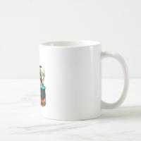 Goofy Witch Cauldron & Black Cat Coffee Mug