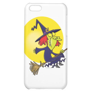 goofy witch on broomstick halloween cartoon iPhone 5C cases