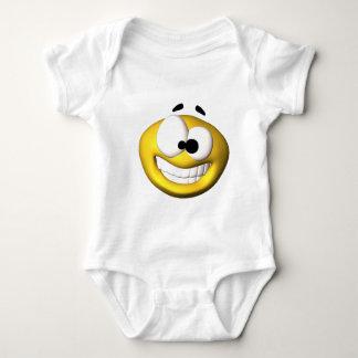 Goofy yellow smiley baby bodysuit