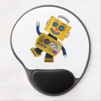 Goofy yellow toy robot gel mouse pad