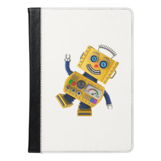 Goofy yellow toy robot iPad air case