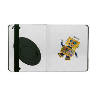 Goofy yellow toy robot iPad case