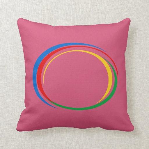 Google colors throw pillows