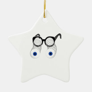 Google Eyes Double-Sided Star Ceramic Christmas Ornament