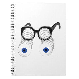 Google Eyes Spiral Note Books