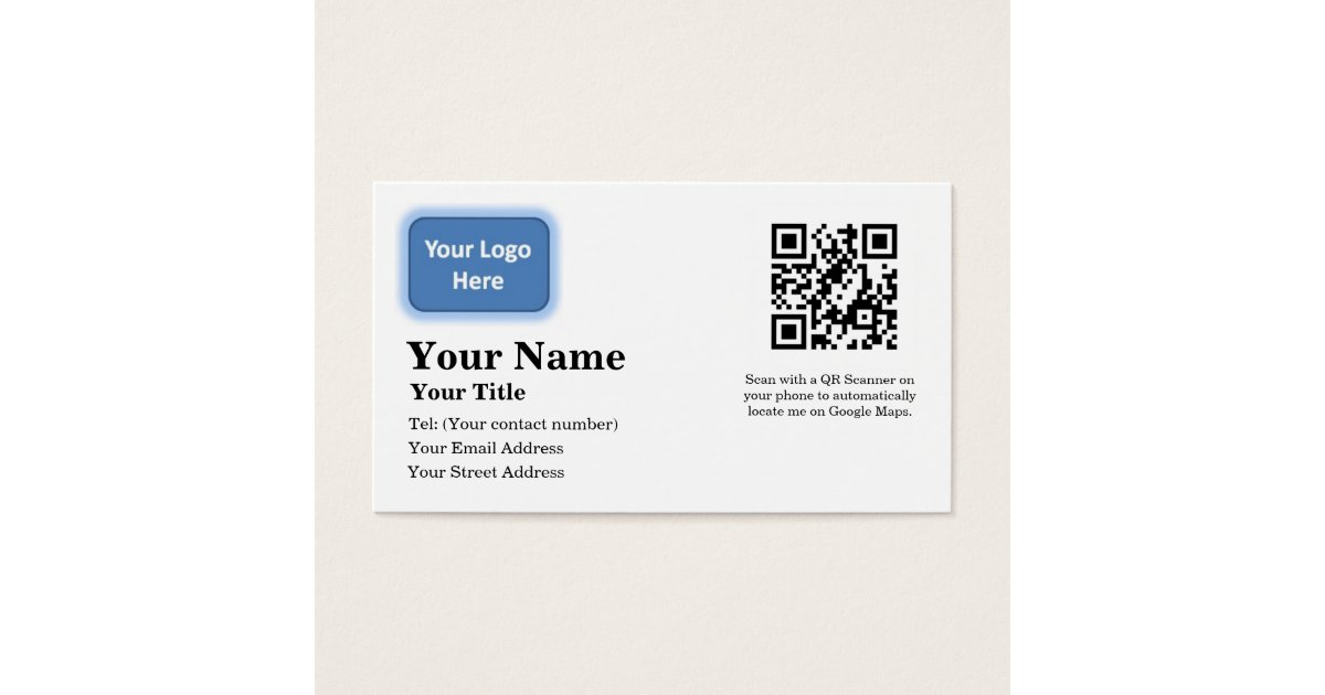 Google Maps Locator Business Card | Zazzle.com
