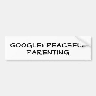 Google: Parenting pacífico Pegatina Para Auto