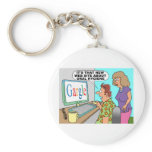 Google Parody Cartoon Keychain
