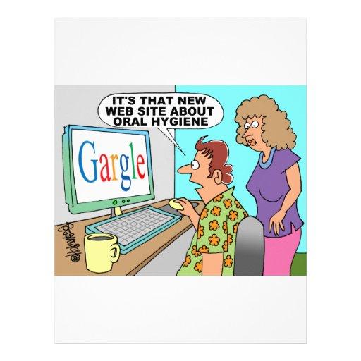 Google Parody Cartoon Letterhead Design