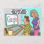 Google Parody Cartoon Postcard