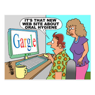 Google Parody Cartoon Postcard