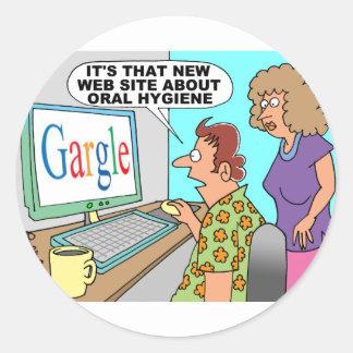 Google Parody Cartoon Round Sticker