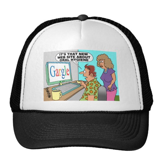 Google Parody Cartoon Trucker Hat