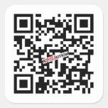 Google Ron Paul QR Pegatinas Cuadradases Personalizadas