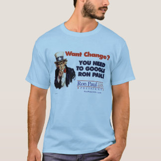 Google Ron Paul Uncle Sam Shirt