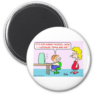 googled adam and eve 2 inch round magnet