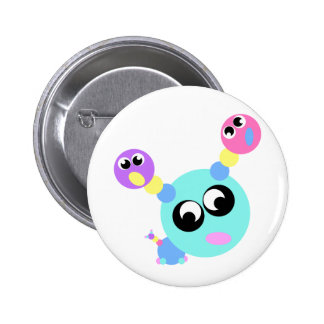 Googley Head Pinback Buttons