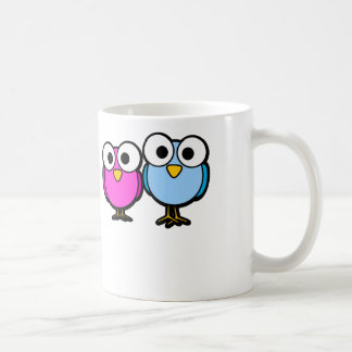 Googly Eye Birds - White Coffee Mug