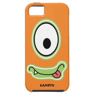 Googly Eye Silly Grinning Monster Face iPhone 5 Cases