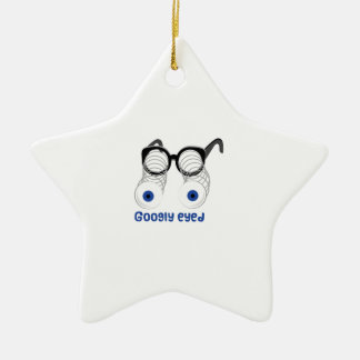 Googly Eyed Double-Sided Star Ceramic Christmas Ornament
