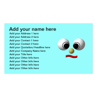 Googly-eyed face #1 business cards