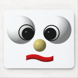 Googly-eyed face #1 mouse pad