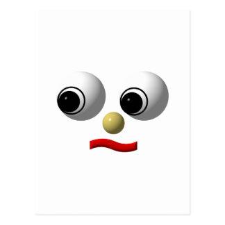 Googly-eyed face #2 postcard