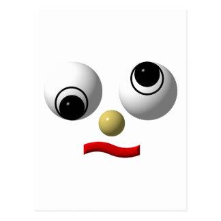 Googly-eyed face #4 postcard