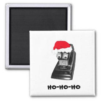 Googly-eyed Ho-Ho-Ho Santa Stapler Magnet