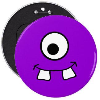 Googly Eyed Purple Monster Badge