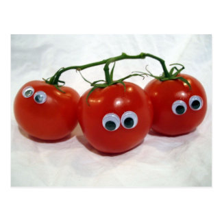 Googly Eyed Silly Tomatoes Postcard