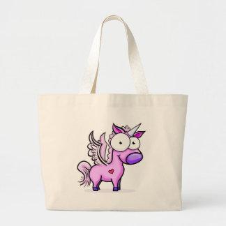 Googly_Eyed_Unicorn Large Tote Bag