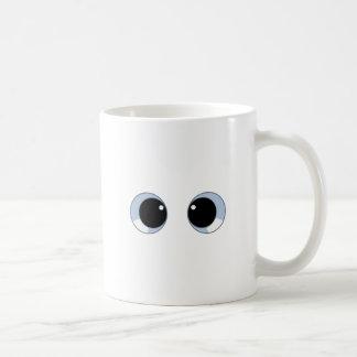 googly eyes coffee mug