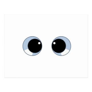 googly eyes postcard
