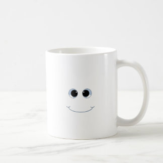 googly eyes smiley face coffee mug