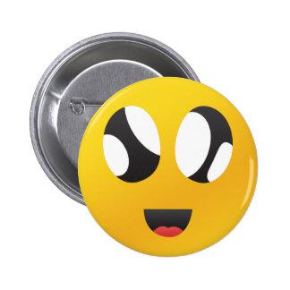 googly Eyes Smiley face pin