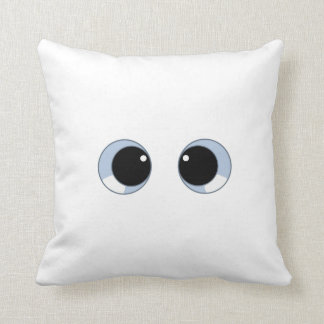 googly eyes throw pillow