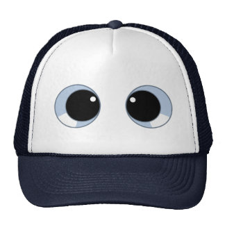 googly eyes trucker hat