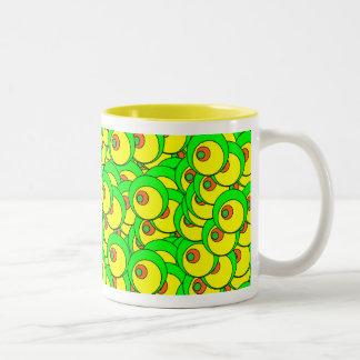 Googly Eyes Two-Tone Coffee Mug