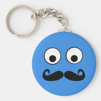 Googly Eyes with Moustache Keychain