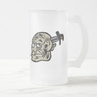 goon knife 16 oz frosted glass beer mug