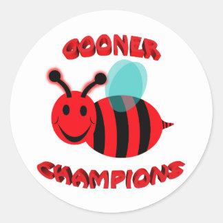 gooner bee champions classic round sticker