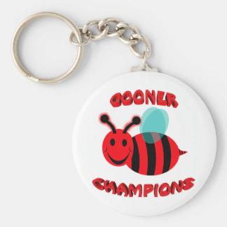 gooner bee champions basic round button keychain