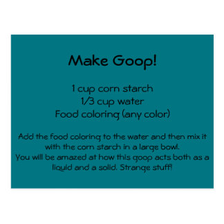 Goop Recipe Postcard