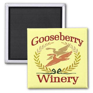 Goosberry Winery Fridge Magnet