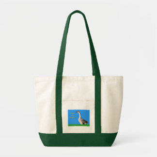 Goose: African Gray Goose Says: Birds of a Feather Tote Bag