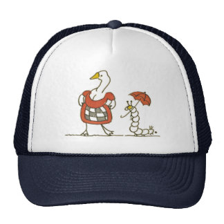 Goose and Caterpillar Trucker Hat