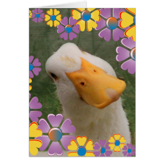 Goose And Flowers Mother's Day Card