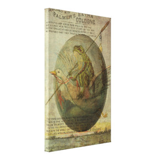 Goose and Frog's Easter Journey Canvas Print
